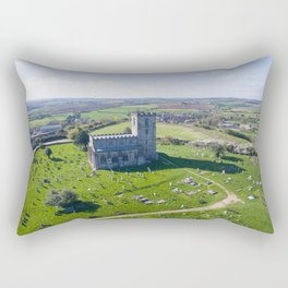 Breedon church  2 Rectangular Pillow