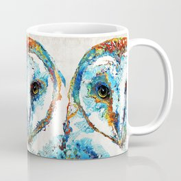 Colorful Barn Owl Art - Birds by Sharon Cummings Coffee Mug