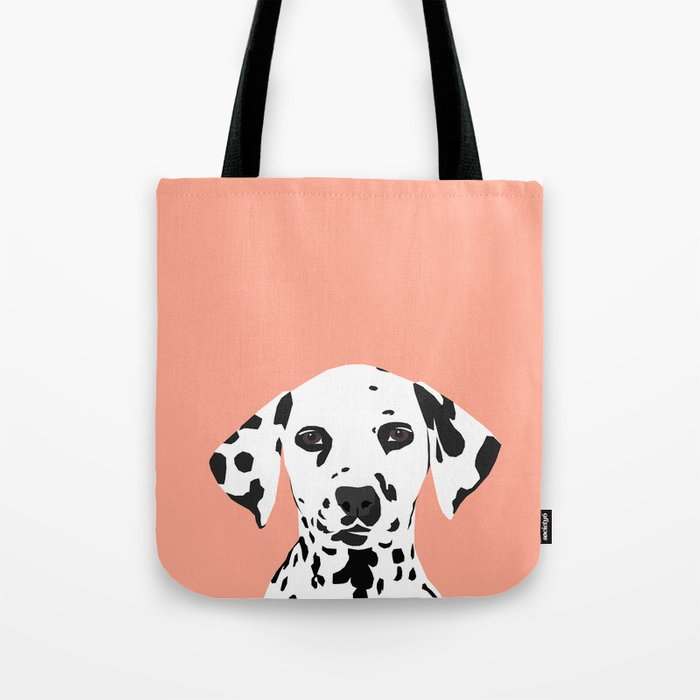 Casey - Dalmation art print phone case decor for pet lover and dog lover Tote Bag