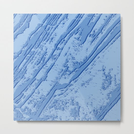 BLUE MARBLE EFFECT Metal Print