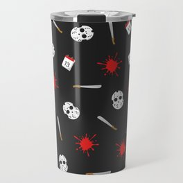 Friday the 13th pattern Travel Mug