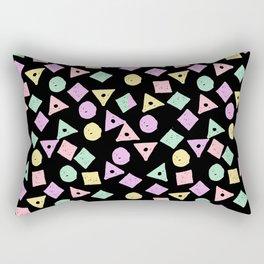 Mikkel - pastel shapes minimal abstract pattern design charlotte winter prints Rectangular Pillow