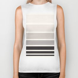 Grey Minimalist Mid Century Modern Color Fields Ombre Watercolor Staggered Squares Biker Tank
