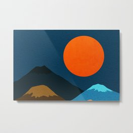 Abstraction_Mountains_Fantasy_Night Metal Print