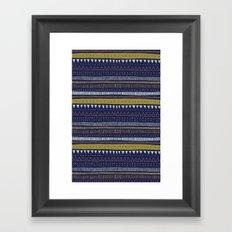 Dark Blue Pattern Framed Art Print