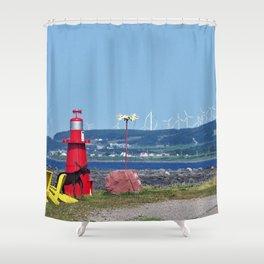 The Windy Coast Shower Curtain