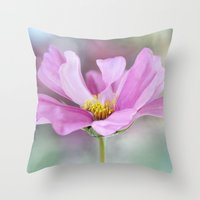 cosmos Throw Pillows featuring Cosmos by Mandy Disher