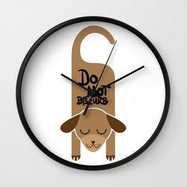 Do Not Disturb Dog Gift Wall Clock