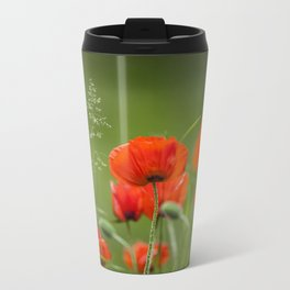 Peony Fire Metal Travel Mug