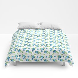 Blueberry Watercolour Pattern Comforters