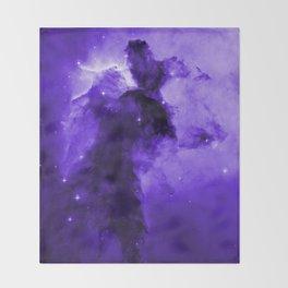Eagle Nebula Ultraviolet Throw Blanket