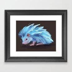 Ice Hedgehog Framed Art Print