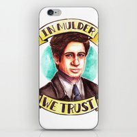 mulder iPhone & iPod Skins featuring In Mulder We Trust by Tiffany Willis