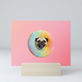 Unicorn Pug Pastel Donut Mini Art Print