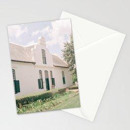 Travel photography Modern wall art Stellenbosch wine farm white tones architecture Framed Art Photo Stationery Cards