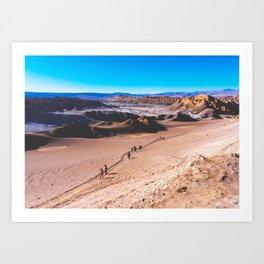 Valle de la Luna (Moon Valley) in San Pedro de Atacama, Chile 3 Art Print