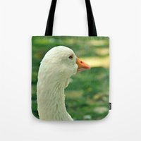 duck Tote Bags featuring Duck by Ruby_Dag