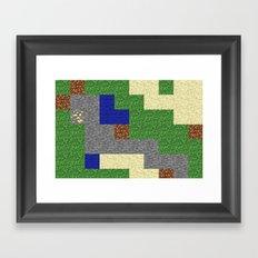 Pixel Craft Pattern Framed Art Print