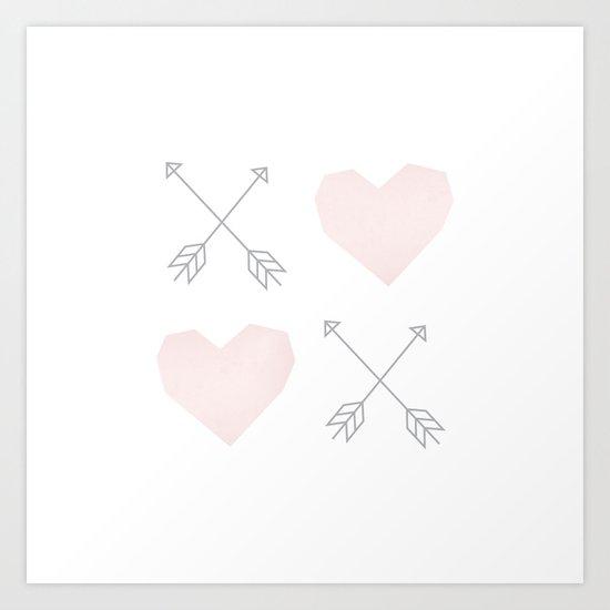 X (Heart) X (Heart) Art Print