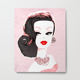 Barbie in Jewels Metal Print