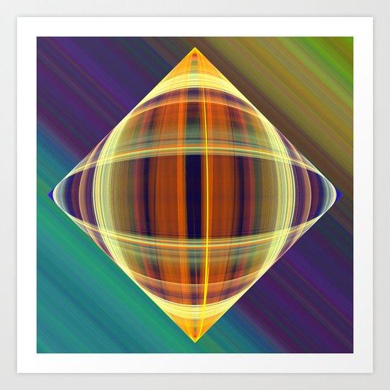 Graphic illusionism Art Print