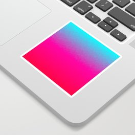 Blue purple and pink ombre flames Sticker