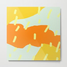 Warm Strokes and Scribble Metal Print