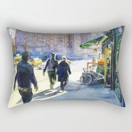 Walking in Chelsea Rectangular Pillow