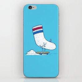Lost Sock Skater iPhone Skin