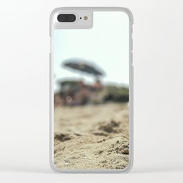 Summer life and fun in a beach in summer in Salento Italy Clear iPhone Case