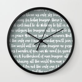 Imagine Song Wall Clock