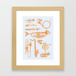 Fish Trumpet Framed Art Print