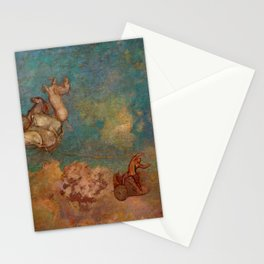 """Odilon Redon """"The Chariot of Apollo"""" Stationery Cards"""