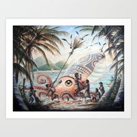 architeuthis conpunctus Art Print