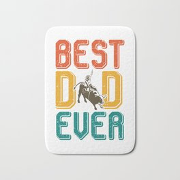 Best father rodeo bull riding Bath Mat