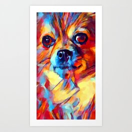 Chihuahua Watercolor Art Print
