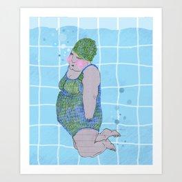 swimming / floating Art Print