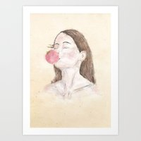 ballon Art Prints featuring ballon by lazy albino