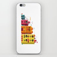 buildings iPhone & iPod Skins featuring Buildings by Luis Pinto