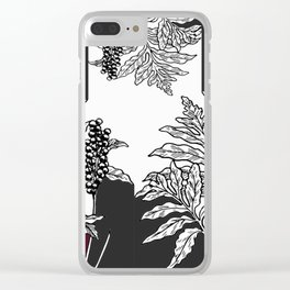 fern tasy leaves Clear iPhone Case