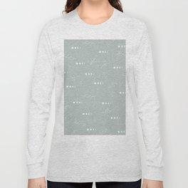 Moon phase boho zodiac sign moss mint green Long Sleeve T-shirt