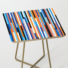 Modern Stripe Side Table