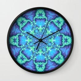 The Aqua Star Mandala Wall Clock