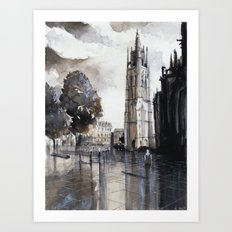 Bordeaux painting Art Print