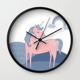 Unicorn hills Wall Clock
