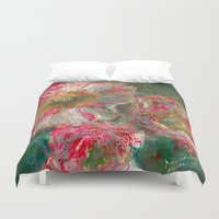 poppies Duvet Covers featuring poppies by Spinning Daydreams