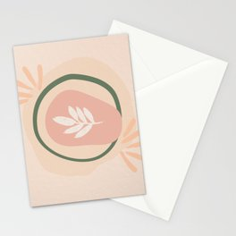 Paint flower beige pink cute abstract boho Stationery Cards