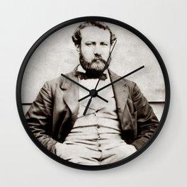 Vintage Jules Verne Portrait Photograph Wall Clock