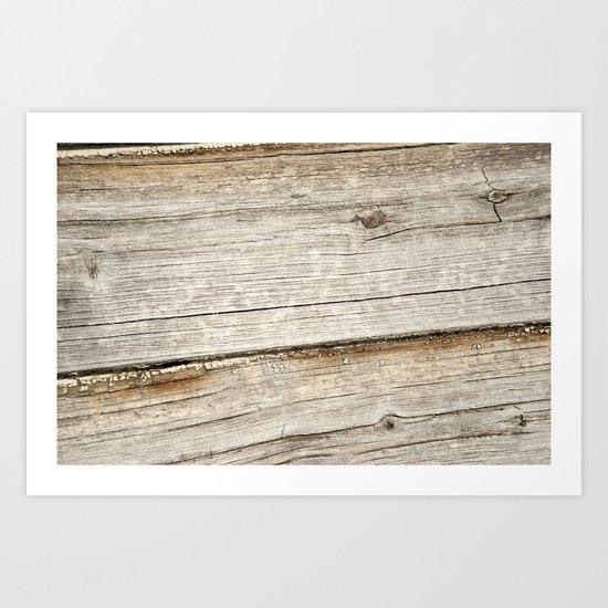 Wood Grain Grasslands Art Print