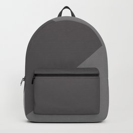 Gray Charcoal Geometric Pattern Backpack